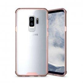 Funda Samsung Galaxy S9 Hybrid Transparente con bordes Rosa