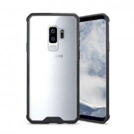 Funda Samsung Galaxy S9 Hybrid Transparente con bordes Negro