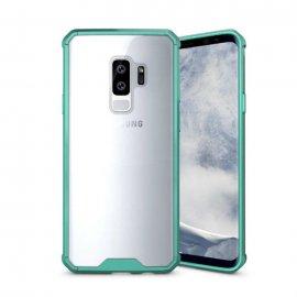 Funda Samsung Galaxy S9 Hybrid Transparente con bordes Verde