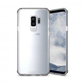 Funda Samsung Galaxy S9 Hybrid Transparente con bordes Gris