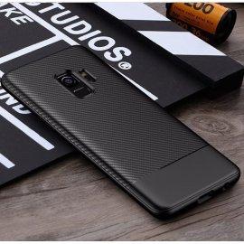 Funda Samsung Galaxy S9 TPU Fibra Carbono Negra