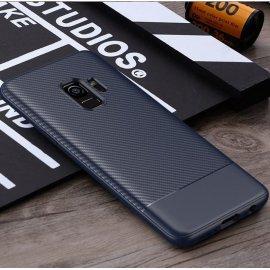 Funda Samsung Galaxy S9 TPU Fibra Carbono Azul