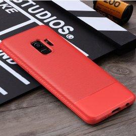 Funda Samsung Galaxy S9 TPU Fibra Carbono Rojo