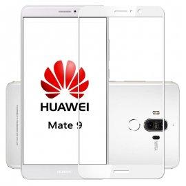 Protector Pantalla Cristal Templado Premium Huawei Mate 9 Blanco