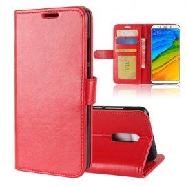 Funda Libro Xiaomi Redmi 5 Plus Soporte Roja