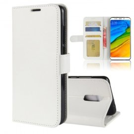 Funda Libro Xiaomi Redmi 5 Plus Soporte Blanca