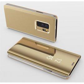 Funda Libro Ventana Translucida Samsung Galaxy S9 Plus Dorada