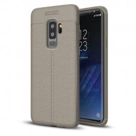 Funda Samsung Galaxy S9 Plus Gel Cuero 3D Gris
