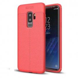 Funda Samsung Galaxy S9 Plus Gel Cuero 3D Roja