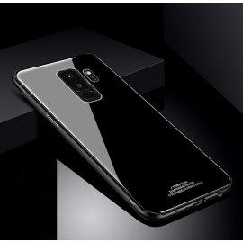 Funda Samsung Galaxy S9 Plus Silicone con trasera Cristal Templado Negro