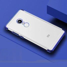 Funda Xiaomi Redmi 5 Plus Silicona Metalizada Azul