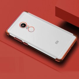 Funda Xiaomi Redmi 5 Silicona Metalizada Roja