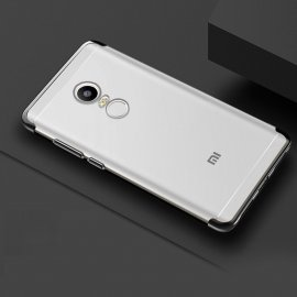 Funda Xiaomi Redmi 5 Silicona Metalizada Negra