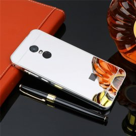 Bumper Xiaomi Redmi 5 Plus Aluminio Dual Plateado