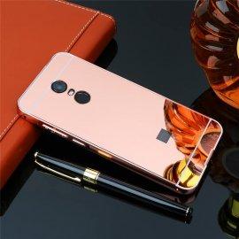 Bumper Xiaomi Redmi 5 Plus Aluminio Dual Oro Rosa