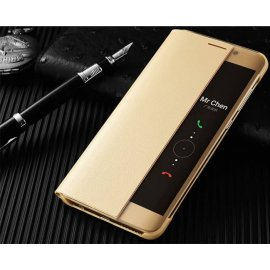 Funda Libro Smart View Huawei Mate 10 Lite Dorada
