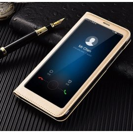Funda Libro Huawei Mate 10 Lite con Tapa y Soporte Full Dorada