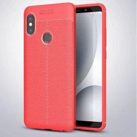 Funda Xiaomi Redmi Note 5 Tpu Cuero 3D Roja