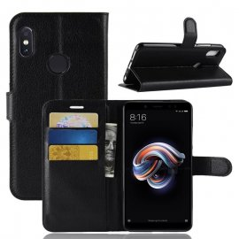 Funda Libro Xiaomi Redmi Note 5 Soporte Negra