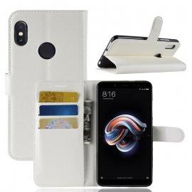 Funda Libro Xiaomi Redmi Note 5 Soporte Blanca