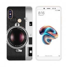 Funda Xiaomi Redmi Note 5 Gel Dibujo Camera