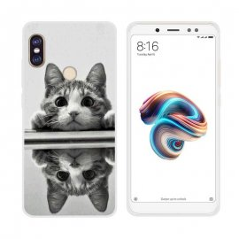 Funda Xiaomi Redmi Note 5 Gel Dibujo Gatito