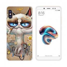 Funda Xiaomi Redmi Note 5 Gel Dibujo Gato Feo