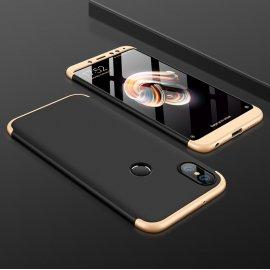 Funda 360 Xiaomi Redmi Note 5 Pro Dorada Negra