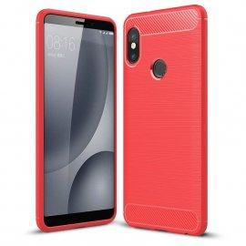 Funda Xiaomi Redmi Note 5 Pro Tpu Cuero 3D Roja
