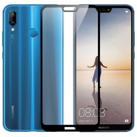 Protector Pantalla Cristal Templado Premium Huawei P20 Lite Negro