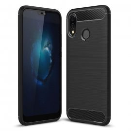 Funda Huawei P20 Lite Gel Hybrida Cepillada Negra