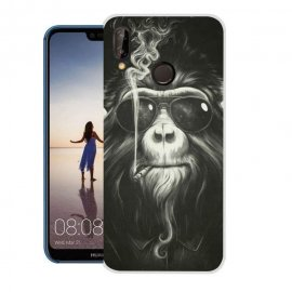 Funda Huawei P20 Lite Gel Dibujo Mono