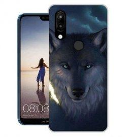 Funda Huawei P20 Lite Gel Dibujo Lobo