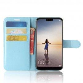 Funda cuero Flip Huawei P20 Lite Azul