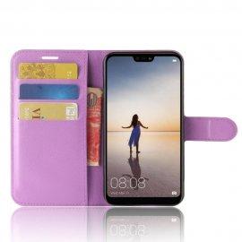 Funda cuero Flip Huawei P20 Lite Lila