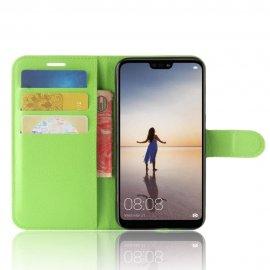 Funda cuero Flip Huawei P20 Lite Verde