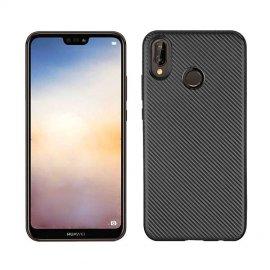 Funda Huawei P20 Lite TPU Fibra Carbono Negra
