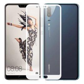 Protector Pantalla Cristal Templado Premium Huawei P20 Blanco