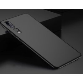 Funda Gel Huawei P20 Flexible y lavable Mate Negra