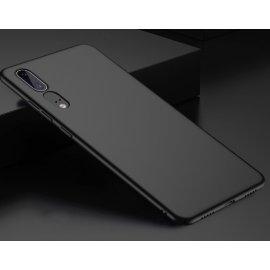 Funda Gel Huawei P20 Flexible y lavable Mate Negra