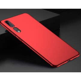 Funda Gel Huawei P20 Flexible y lavable Mate Roja
