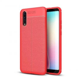 Funda Huawei P20 Tpu Cuero 3D Roja