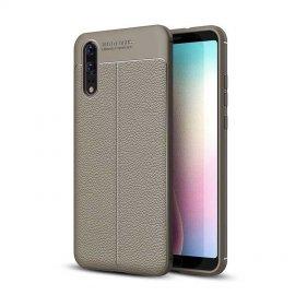 Funda Huawei P20 Tpu Cuero 3D Gris
