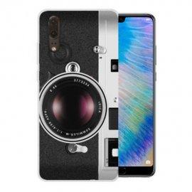 Funda Huawei P20 Gel Dibujo Camera