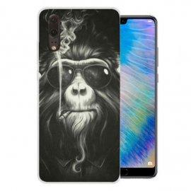 Funda Huawei P20 Gel Dibujo Mono