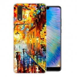 Funda Huawei P20 Gel Dibujo Pintura