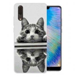 Funda Huawei P20 Gel Dibujo Gatito