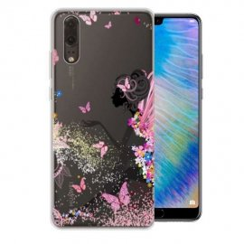 Funda Huawei P20 Gel Dibujo Ada