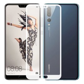 Protector Pantalla Cristal Templado Premium Huawei P20 Pro Blanco