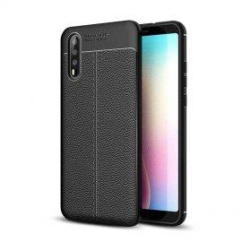 Funda Huawei P20 Pro Tpu Cuero 3D Negra